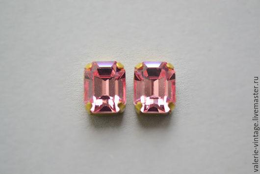 Для украшений ручной работы. Ярмарка Мастеров - ручная работа. Купить Винтажные кристаллы Swarovski 10х8 мм. цвет Light Rose. Handmade.