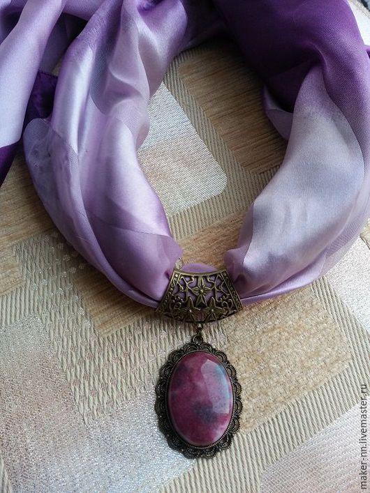 Кулоны, подвески ручной работы. Ярмарка Мастеров - ручная работа. Купить Подвеска с турмалином  для платка,шарфа. Handmade. Комбинированный, подарок