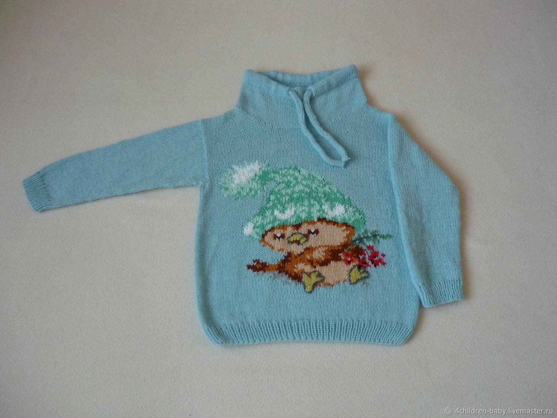 Детский свитер с птичкой, Свитеры и джемперы, Москва,  Фото №1