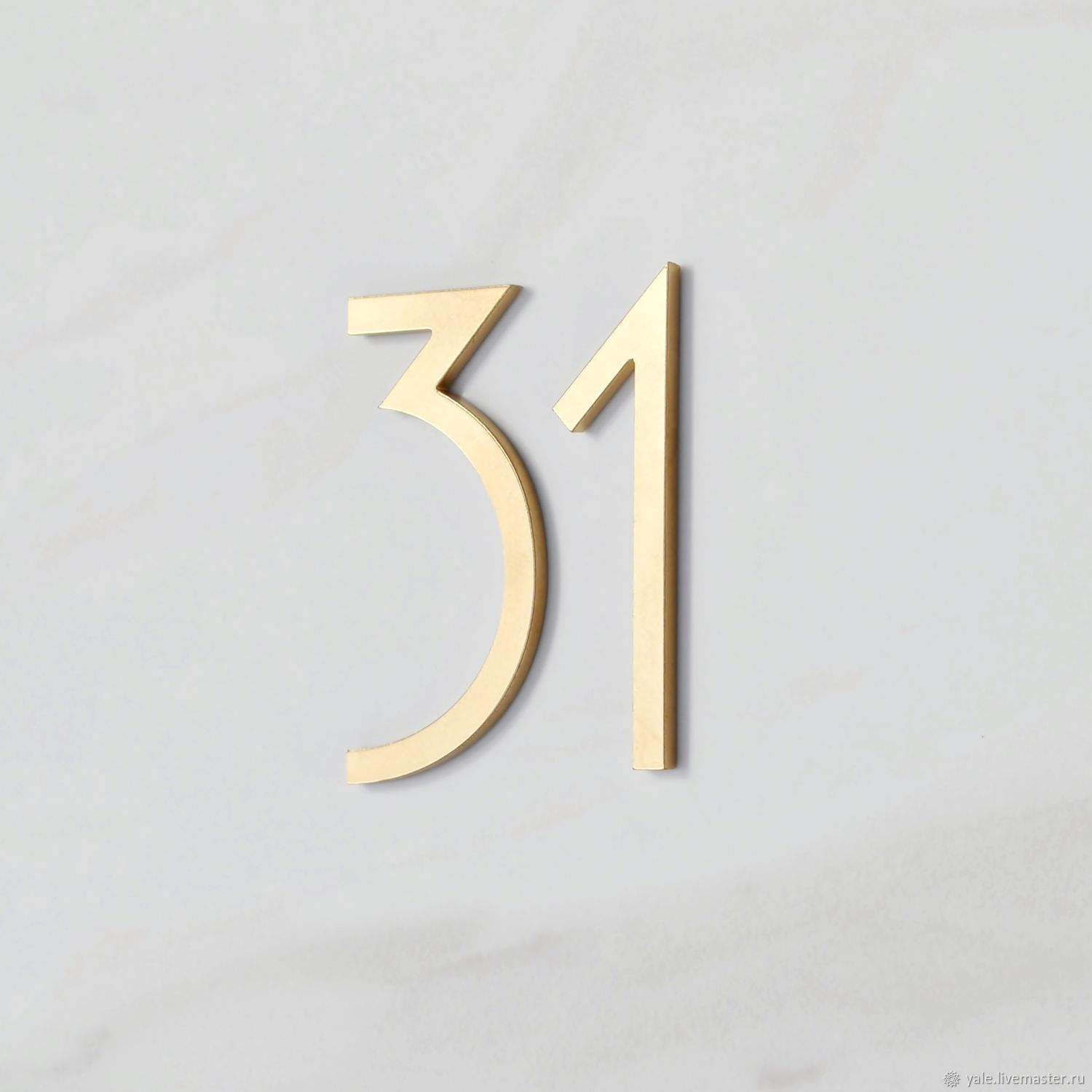The numbers on the Door of apartment Number of Figures in the art Nouveau style 7,5cm, Door number, Tolyatti,  Фото №1