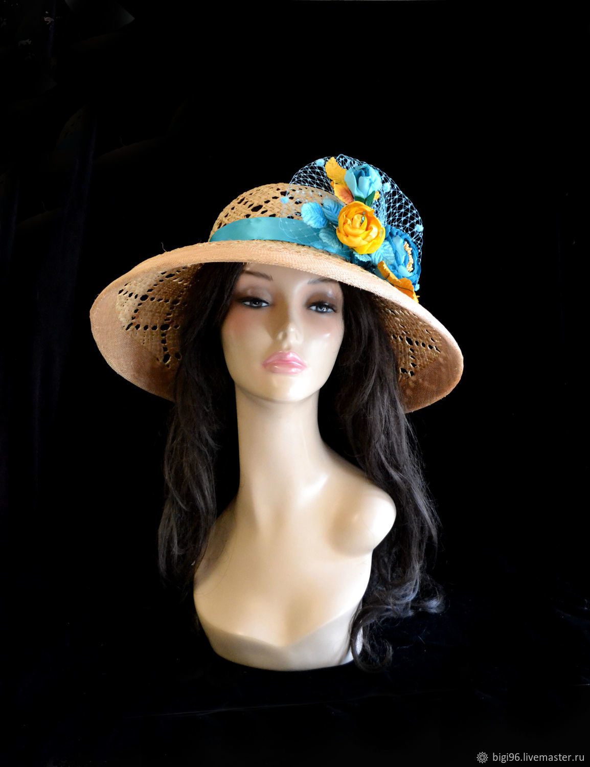 Straw hat ' Dreams of the sea', Hats1, Moscow,  Фото №1