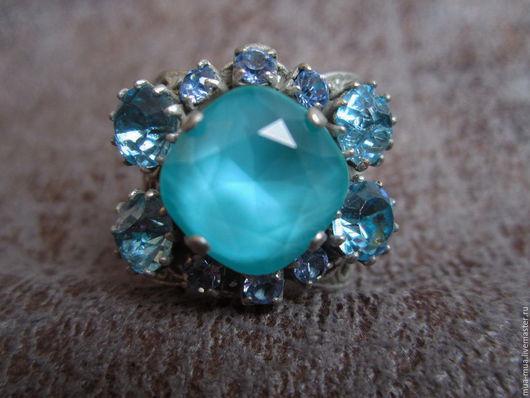 """Винтажные украшения. Ярмарка Мастеров - ручная работа. Купить Богемное кольцо """"Голубое"""". Handmade. Кольцо, богемный шик, винтажное украшение"""