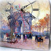 """Для дома и интерьера ручной работы. Ярмарка Мастеров - ручная работа Часы """"Осень в Париже"""". Handmade."""
