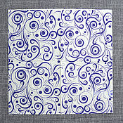 """Материалы для творчества ручной работы. Ярмарка Мастеров - ручная работа СФ-335359. Салфетки бумажные """"Абстрактный рисун. Handmade."""