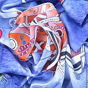 """Аксессуары ручной работы. Ярмарка Мастеров - ручная работа Шейный платок """"Весёлый"""". Handmade."""