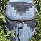 Сумки и аксессуары handmade. Livemaster - original item Backpack denim Infinity CapII. Handmade.