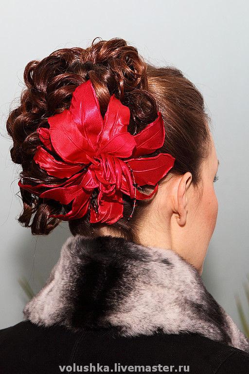 """Броши ручной работы. Ярмарка Мастеров - ручная работа. Купить Стилизованный цветок из ткани: """"Маргарита"""". Handmade. Цветы из ткани"""