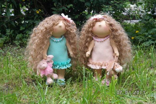 Куклы тыквоголовки ручной работы. Ярмарка Мастеров - ручная работа. Купить Интерьерная куколка.. Handmade. Бледно-розовый, обувь, игрушки