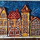 """Прихожая ручной работы. Ярмарка Мастеров - ручная работа. Купить Ключница """"Сказочный город"""". Handmade. Домик, домики, сказочный город"""