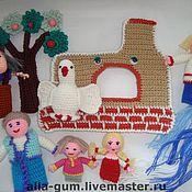 """Куклы и игрушки ручной работы. Ярмарка Мастеров - ручная работа Пальчиковые куклы """"Гуси-лебеди"""". Handmade."""