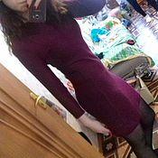 Одежда ручной работы. Ярмарка Мастеров - ручная работа облегающее тёплое вязанное платье. Handmade.