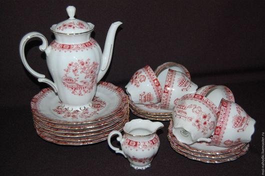 Винтажная посуда. Ярмарка Мастеров - ручная работа. Купить Чайный сервиз на 6 персон Seltmann Weiden, Германия. Handmade. Комбинированный