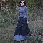 "Одежда handmade. Livemaster - original item The skirt in Boho style ""winter version"". Handmade."
