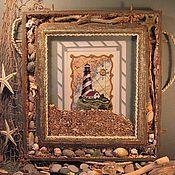 "Ключницы ручной работы. Ярмарка Мастеров - ручная работа Вышитая картина ""Маяк"". Handmade."