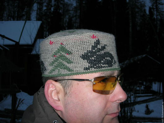 """Для мужчин, ручной работы. Ярмарка Мастеров - ручная работа. Купить Шапка """"Зима-3"""". Handmade. Комбинированный, Новый Год"""