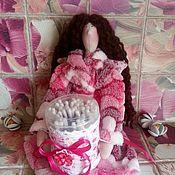 Куклы и игрушки handmade. Livemaster - original item Tilda bath angel holder, cotton swabs, bath fairy. Handmade.