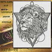 Материалы для творчества handmade. Livemaster - original item Lion. Monochrome. Handmade.