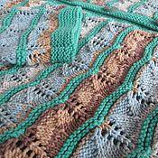 Одежда ручной работы. Ярмарка Мастеров - ручная работа Кофта спицами вязаная Волна,летняя кофточка спицами,жакет на пуговицах. Handmade.