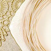 Материалы для творчества ручной работы. Ярмарка Мастеров - ручная работа Канитель жесткая Розовое золото 1,25 мм. Handmade.