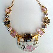 Украшения handmade. Livemaster - original item Set of crystal and porcelain in the Oriental style Cherry Blossom.. Handmade.