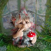 Куклы и игрушки ручной работы. Ярмарка Мастеров - ручная работа ТРОЛЛЬ валяная скульптура. Handmade.
