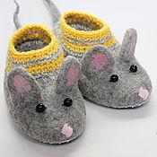 Обувь ручной работы. Ярмарка Мастеров - ручная работа Валяные тапочки-мышки N165-166. Handmade.