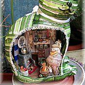 Мини фигурки и статуэтки ручной работы. Ярмарка Мастеров - ручная работа Мышка на кухне. Handmade.