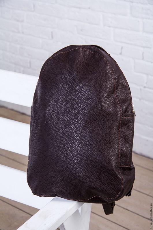Рюкзаки ручной работы. Ярмарка Мастеров - ручная работа. Купить Коричневый рюкзак текстурный. Handmade. Однотонный, женский рюкзак