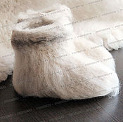 Slippers handmade. Livemaster - original item Chuni sheep wool (white) No. №1. Handmade.