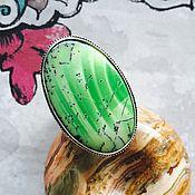 Кольцо с Дендритным Опалом в серебре 925 пробы.