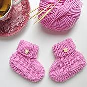 Работы для детей, ручной работы. Ярмарка Мастеров - ручная работа Пинетки-носочки для новорожденной. Handmade.