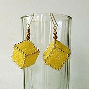 """Earrings handmade. Livemaster - original item Серьги """"Кубики"""". Handmade."""