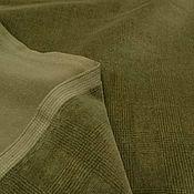 Ткани ручной работы. Ярмарка Мастеров - ручная работа Велюр-стрейч из коллекции Armani, оттенка хаки. Handmade.