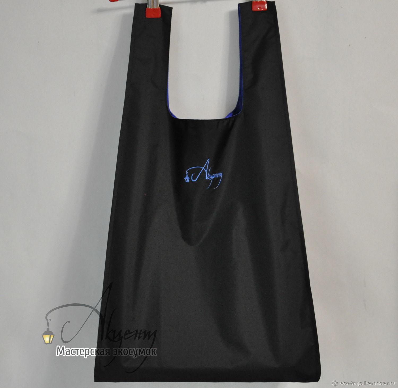 """Сумка для покупок """"Черная с синим"""", Сумка-шоппер, Гай,  Фото №1"""