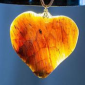Украшения handmade. Livemaster - original item LEAF OR HEART? Petrified wood pendant. Handmade.