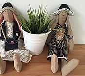 Куклы и игрушки ручной работы. Ярмарка Мастеров - ручная работа Тильда зайцы (пара). Handmade.