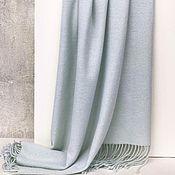 Палантины ручной работы. Ярмарка Мастеров - ручная работа Тканый кашемировый палантин шарф нежный мятный. Handmade.
