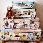 Для дома и интерьера handmade. Livemaster - original item Suitcases for a seamstress ( from small to large). Handmade.