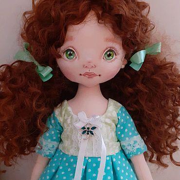Куклы и игрушки ручной работы. Ярмарка Мастеров - ручная работа Оливия.Текстильная куколка. Handmade.