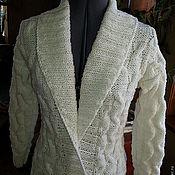 Одежда ручной работы. Ярмарка Мастеров - ручная работа кардиган Белоснежный. Handmade.