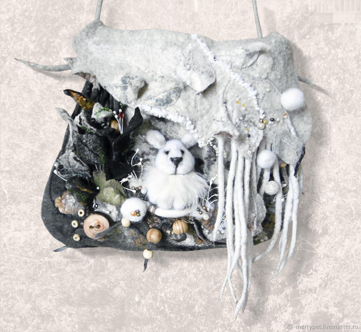 Валяная сумка Первый снег, Классическая сумка, Екатеринбург,  Фото №1