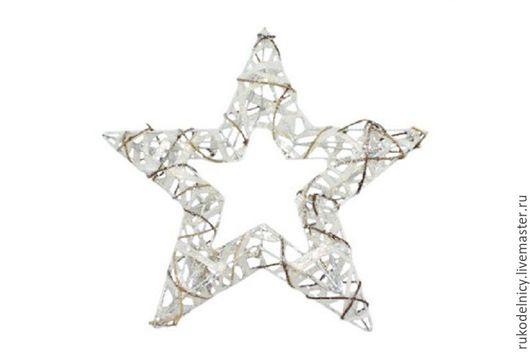 Декоративная звезда новогодняя, ротанг с глиттером, 15см- 175 руб, Декоративная звезда, ротанг с глиттером, 25см -525 руб.