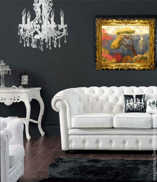 Картина освежит самый изысканный интерьер в любом стиле! В классическом сдержанном интерьере  добавит цвета и тепла, увеличит пространство, добавит воздуха и свежести!