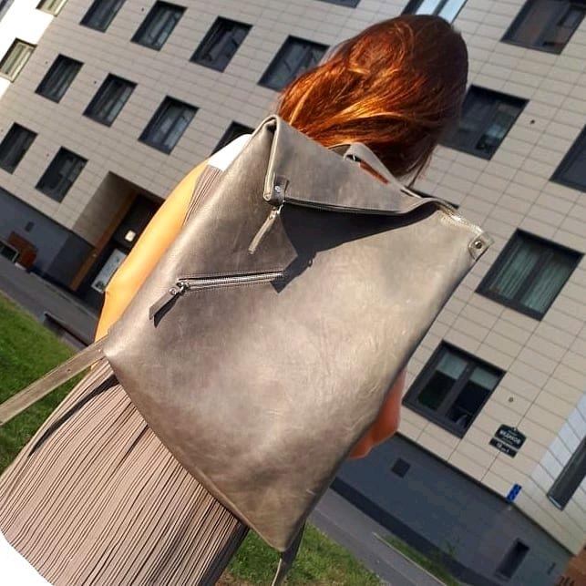 """Кожаный рюкзак """"ассиметрия"""", Рюкзаки, Санкт-Петербург,  Фото №1"""