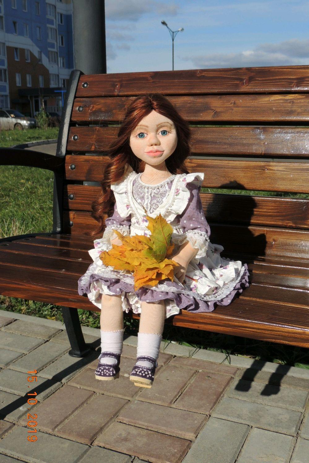 %%%%% Текстильная интерьерная кукла Виолетта, Куклы и пупсы, Орел,  Фото №1