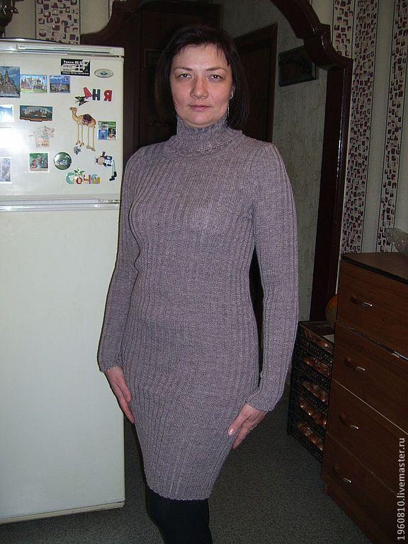 Вязаное платье лапша купить
