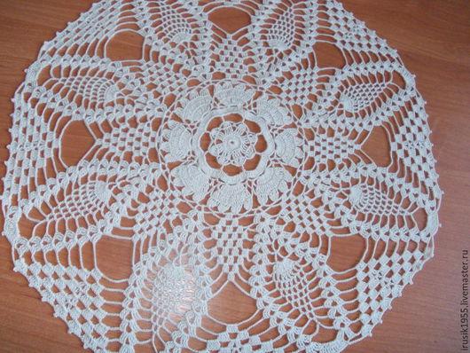 """Текстиль, ковры ручной работы. Ярмарка Мастеров - ручная работа. Купить Салфетка """"Простота""""40см. Handmade. Бежевый, подарок"""