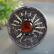 Украшения handmade. Livemaster - original item Hessonite garnet, silver ring