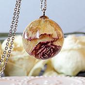 Украшения ручной работы. Ярмарка Мастеров - ручная работа Кулон шар с желтой розой. Handmade.