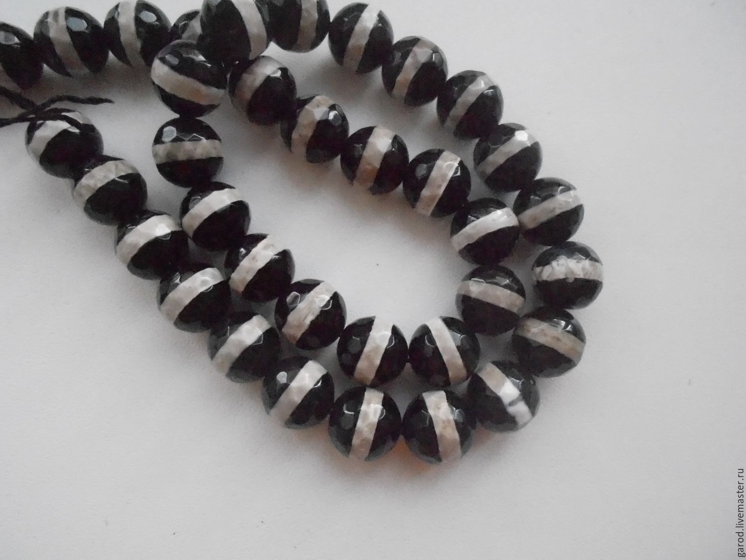 Beads Tibetan agate with stripe,10mm, Beads1, Omsk,  Фото №1
